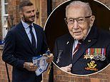David Beckham visits Captain Sir Tom Moore as he is elected honorary captain of Lionhearts squad
