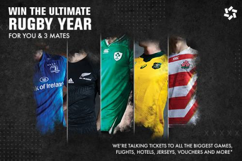 WIN THE ULTIMATE RUGBY YEAR FOR YOU & 3 MATES