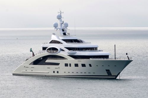 Billionaire's £150m superyacht arrives in UK with helipad, spa and support helper boat called Garçon