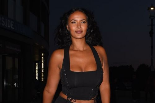 Maya Jama shows off her incredible curves in a plunging black crop top