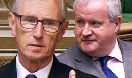 SNP Ian Blackford scolded by Nigel Evans as he heckles Alok Sharma in Commons - 'Desist!'