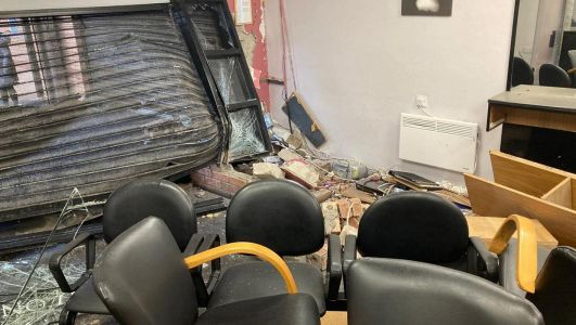 Newly-redecorated Newry hair salon trashed by stolen car driver