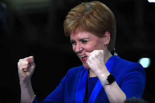 Nicola Sturgeon caught on camera wildly cheering Jo Swinson's defeat