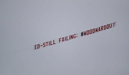 Man Utd fans fly plane with banner 'Ed Still Failing WoodwardOut' over Old Trafford before Liverpool clash