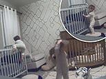Baby monitor catches toddler brothers teaming up to break out of their cribs