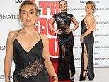 Tallia Storm stuns in a slip dress after rocking a beaded frock to dazzle at TWO events