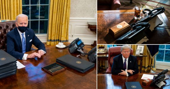 Joe Biden removes Donald Trump's Diet Coke button from Oval Office