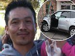Father, 42, eating at In-N-Out Burger is killed when elderly driver ploughs SUV through the wall