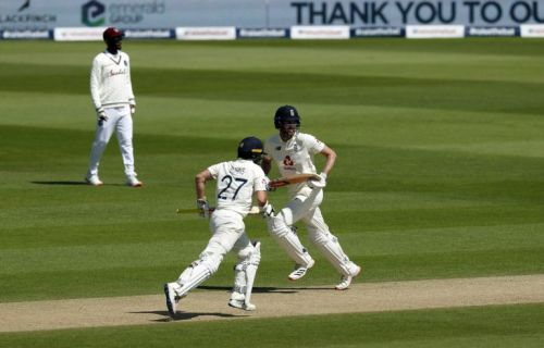 Late wickets boost West Indies on penultimate day of first Test with England