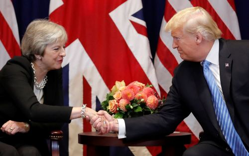 Donald Trump 'berated Theresa May in Air Force One phone call'