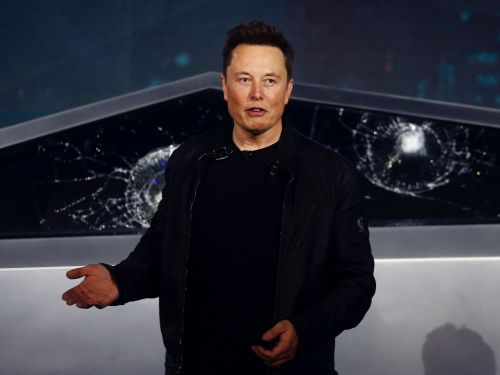 'Oh my f--- god': Watch Elon Musk's reaction after Tesla's lead designer cracked a window on the Cybertruck that Musk suggested was stronger than normal car glass
