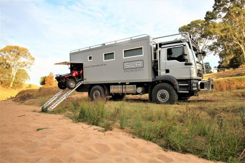 This $435,000 off-road RV is a hardcore military vehicle on the outside and a swanky loft on the inside - take a closer look at the Commander 4x4