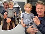 Gordon Ramsay takes son Oscar, 14 months, to work with him as he reopens his restaurants