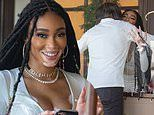 Winnie Harlow has chance meeting with family friend Mohamed Hadid during outdoor lunch in LA