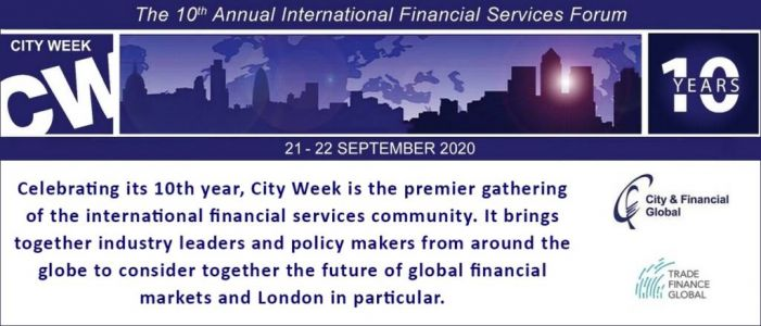 CITY WEEK 2020: The future of financial services in the new Covid-19 world
