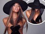 Naomi Campbell goes naked for new campaign video as she puts on a flirty display in a hat and gloves