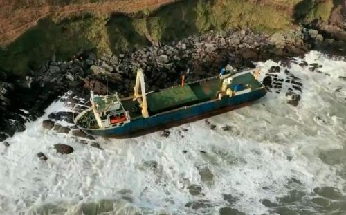 Storm Dennis washes ghost ship up in Ireland after it drifted around Atlantic and off African coast for 17 MONTHS