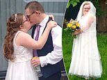 Couple with Down's Syndrome finally tie the knot at socially distanced church ceremony