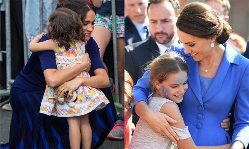 Best royal hugs - from Prince Harry to Meghan Markle