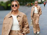 Ashley Roberts nails utility chic as she leaves Heart FM after hosting her radio show