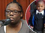 Mother of slain Zymere Perkins weeps in court as she admits she beat the six-year-old with a belt
