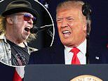 Neil Young objects to Donald Trump using his songs at Mount Rushmore event