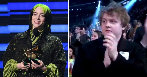 Lewis Capaldi fans can't deal with his 'devastated look' as Billie Eilish wins song of the year Grammy