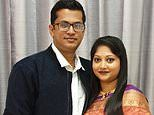 Devastated wife of Shahid Islam who was killed in Bald Hills crash couldn't stand during his funeral