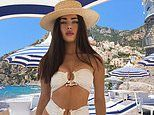Ed Westwick's girlfriend Tamara Francesconi sizzles in a busty two-piece as she inks modeling deal