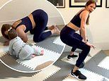 Millie Mackintosh gives an honest insight into home workouts as a mum