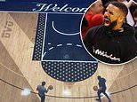 Drake sinks a shot as he shows off NBA regulation-sized court in his $6.7million Toronto mansion