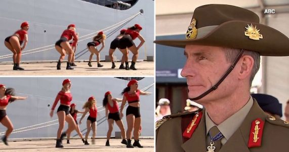 Twerking dance troupe at navy ship launch say footage was 'deceptively' edited
