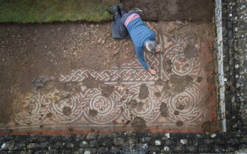 Incredible 5th century 'Dark Ages' mosaic discovered in Gloucestershire