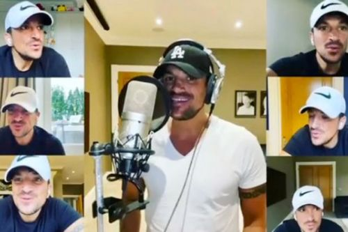 Peter Andre wows fans with 'mind boggling' singing clip of 6 versions of himself