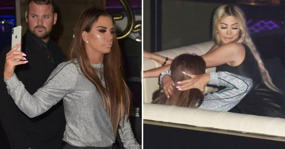 Katie Price given a lapdance by Chloe Ferry as the two spend a wild night out together