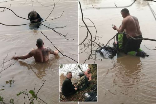 Rescuers risked their lives for flood victim trapped on car roof for 12 hours