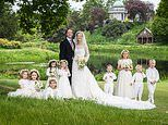 Lady Gabriella's official wedding pictures shows her posing alongside Thomas Kingston