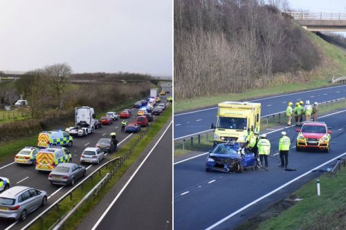 Baby dies and woman fighting for life after car crashes with lorry