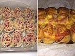 Foodie shares her delicious homemade puff pastry pizza scroll recipe - and it's VERY easy to make