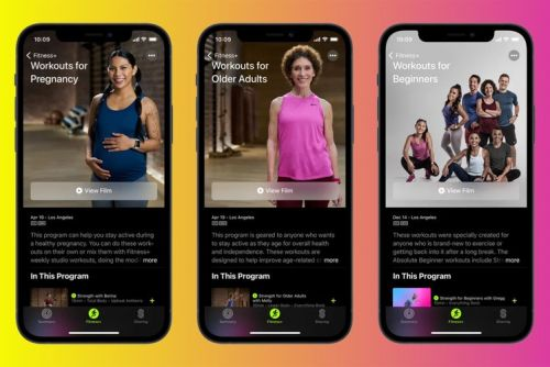 New Apple Fitness+ update adds workouts for pregnant and elderly users