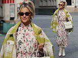 Ashley Roberts oozes spring chic in a floral dress and jacket as she continues to host radio show