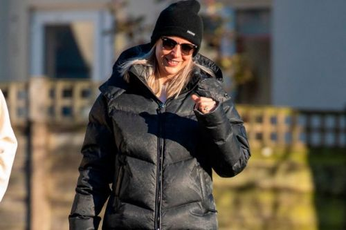Gemma Atkinson flashes engagement ring as she joins Gorka Marquez on walk