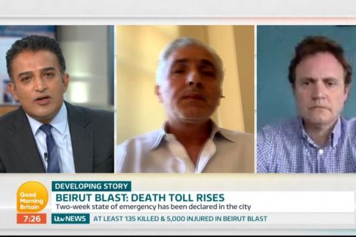 GMB's Adil Ray corners Beirut Mayor on why those left homeless should trust him