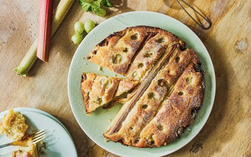 Rhubarb and gooseberry cake recipe