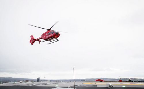 Watch: First helipad landing at Royal Victoria Hospital's delayed Critical Care Building