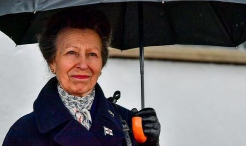 Princess Anne looks teary during first public appearance since Prince Philip's death