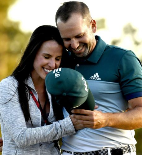 Who is Sergio Garcia's wife Angela Akins, and how did golfer meet the Golf Channel reporter?