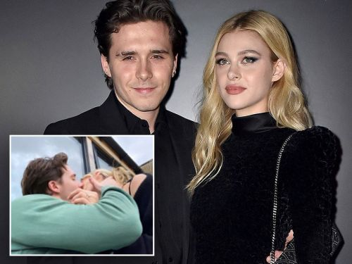 Brooklyn Beckham snogs fiancée Nicola Peltz as he posts emotional message saying he's the 'happiest man in the world'