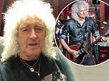 Brian May says he has been crawling around his house on his hands following recent heart attack