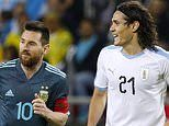 Edinson Cavani 'urges Lionel Messi to FIGHT him to which the Argentine responds